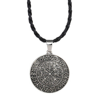 Cool Fashion Viking Vegvisir Compass Pendant Odin's Symbal Of Pendant NecklacAUE