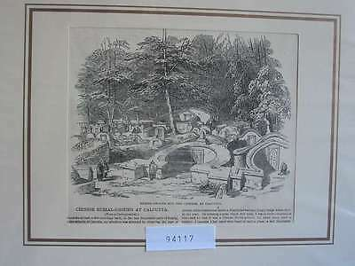 94117-Asien-Asia-Indien-India-China Burial Calcutta-T Holzstich-Wood engraving