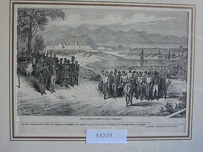 94224-Italien-Italy-Italia-Peschiera Austrian Troops-T Holzstich-Wood engraving