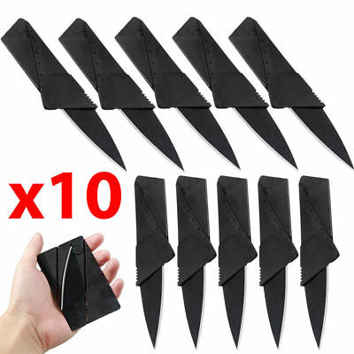10pcs Portable Cardsharp Mini Foldable Pocket Thin Knife Outdoor Survival Tool