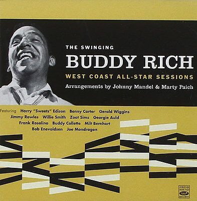 Buddy Rich THE SWINGING BUDDY RICH - WEST COAST ALL-STAR SESSIONS  2 LPS ON 1 CD