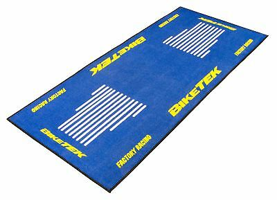 Biketek Garage Mat Series 3 Blue/White/Yellow For Motorcycle Bike GRGMAT57