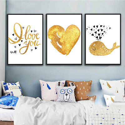 Love Heart Abstract Art Canvas Painting Wall Print Picture Poster Home Decor