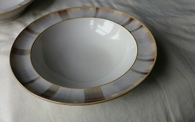 Denby Truffle Layers 9 Inch Rimmed Pasta Bowl- Vgc