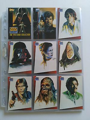 Star Wars Topps Galaxy series 1 set and promo cards 1993 EX/NM