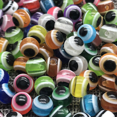 6mm 100pcs Acrylic Spacer Round Pearl Eye Beads Loose Beads Jewelry Making Mix