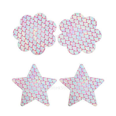 Sexy Sparkling Womens Disposable Rave Pasties Adhesive Breast Petal Bra Stickers