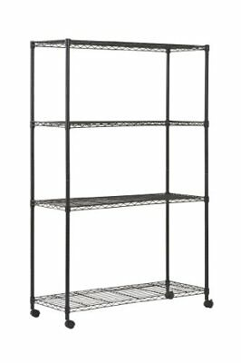 """Sandusky MWS481872 4-Tier Mobile Wire Shelving Unit with 2"""" Nylon Casters, 4 Wir"""