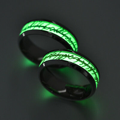 Lord of the Rings The One Ring Lotr Stainless Steel Men's Ring Night Light New