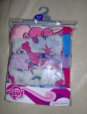 5 Pair Pack My Little Pony Girls Briefs  - Ages 9/10 - 11/12 - 13/14 Years