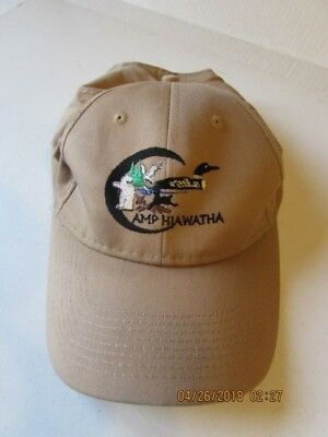 Vintage BSA Staff Camp Hiawatha   100  Cotton  snap back with animals & loon
