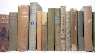 5 Vintage Shabby Mixed tones old/antique Authentic Decorative Staging Books Lot