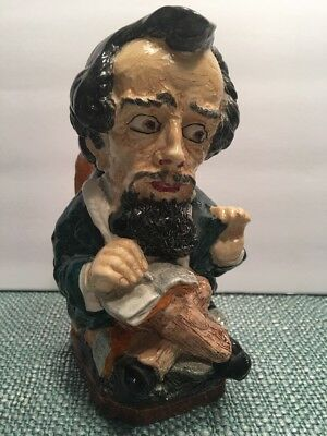 VTG Charles DICKENS Character Jug Pitcher Burleigh Ware Burgess Leigh England