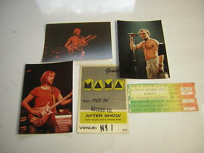 Genesis Backstage Pass Nyc 1983 Record Company Ticket Stub 1982 Unpub Photos