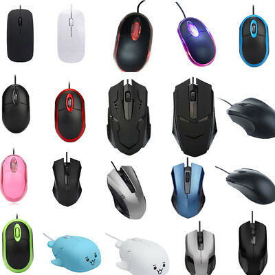1200DPI Optical USB Wired Game Gaming Mouse Mice For PC Laptop Computer