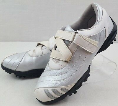 Adidas Z-Traxion White Grey Casual Sport Golf Shoes Soft Spikes Women Size 6  US b2a8493f95f