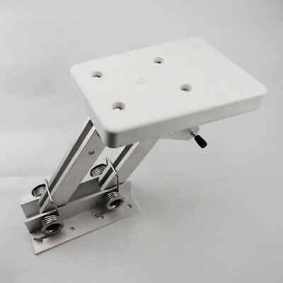 Heavy Duty Aluminum Outboard2 Stroke Kicker Motor Bracket 7.5hp-20hp White Solid