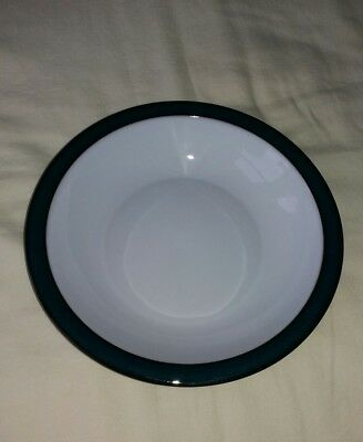Denby Greenwich Green Soup/pasta Bowl Rimmed 8.25 Inches Pristine
