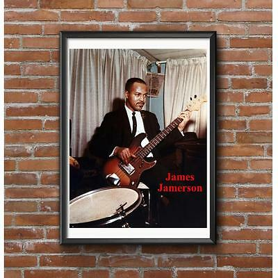 James Jamerson Tribute Poster - Funk Brothers Funk Machine Bass