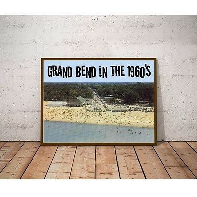 Grand Bend in the 1960's Poster - Ontario Canada Beach Resort Town Summer Fun
