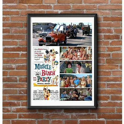 Muscle Beach Party 1964 Poster - Frankie Annette Hot Rods Dick Dale Surfing
