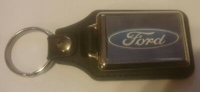 Ford Logo Leather Keyring Xmas Gift Idea Vehicle Parts & Accessories Keyrings & Keyfobs