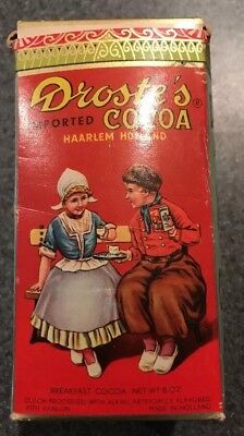 Cocoa Droste's Dutch Box New NOS unopened Full Not Coffee Half Lb.