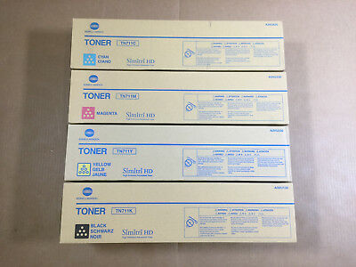 Genuine Konica Minolta TN711 CMYK Set Toner for Bizhub C654 C654e C754 C754e