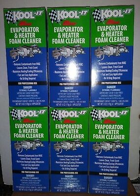 6X Lubegard 96030 Kool-It Evaporator and Heater Foam Cleaner  FRESH CLEAN AIR !!