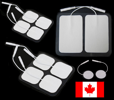 Multi Size TENS 3000 7000 Electro Pads CARBON ELECTRODES Massage Pin Style