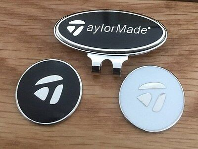 TaylorMade Hat/Cap clip with two Magnetic golf ball markers                s84