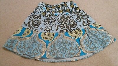 NWOT WIlly Dilly Boutique Geometric Print Skirt Size 10