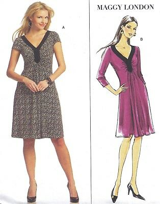 VTG 80S PULLOVER dress pattern deep armhole tunic skirt sz 8 10 12 ...