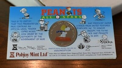 Niue Peanuts All Stars Snoopy Flying Ace & Red Baron $1 2001 Legal Tender Coin