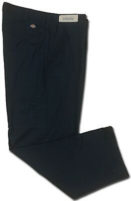 Dickies Pants Black Men's Industrial Relaxed Fit Straight Leg Utility Pocket
