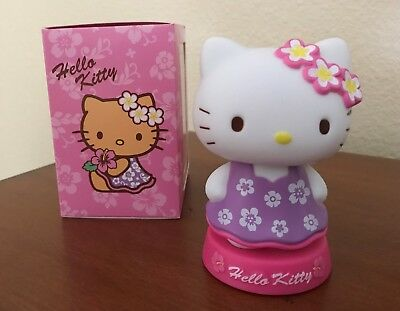NIB Sanrio HELLO KITTY HAWAIIAN Hawaii HULA GIRL BOBBLEHEAD Figurine in MUU MUU