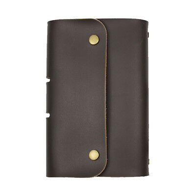 A6 Handmade Genuine Leather Journal Diary Book Notebook Black
