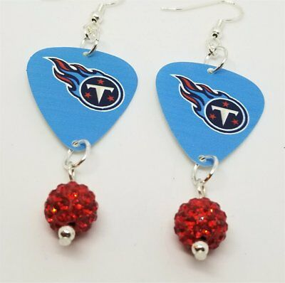 ac10bbf98 MAGOG GUITAR PICK Earrings with Fuchsia Pave Beads - $4.50 | PicClick