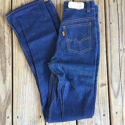 "Levis Super Straight Orange Tab Sz 12 23"" 30"" New Blue Jeans"
