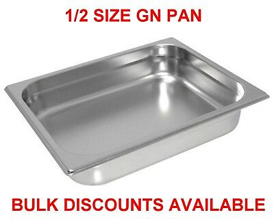12 X 1/2 Gn Pans Bain Marie Pans Stainless Steel 65Mm Size Sandwich Bar Hot Food