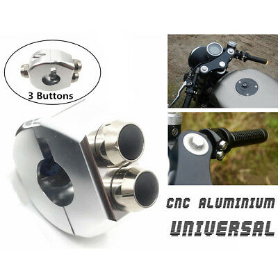 12V Motorcycle Handle Switch Grips Reset 3 Buttons Self Latch& Momentary Buttons