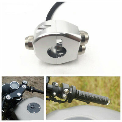 12V Motorcycle CNC Aluminium Alloy Handle Switch Grips Reset 3 Button Self Latch