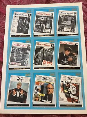 Dr. Doctor Who Series 1 Radio Times Chase Cards Printed on 2 cards StrictlyInk