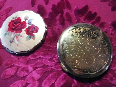 2 COLLECTABLE VINTAGE POWDER COMPACTS: STRATTON & KIGU (Both made in England)