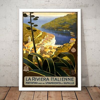 Italy Vintage Italian Travel Tourism Home Decor Art Poster Print - A4 to A0
