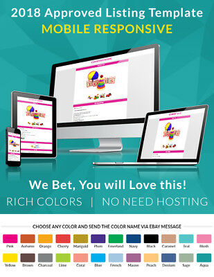 eBay Auction Template HTML Listing Theme for High eBay Sale Free & Fast Shipping