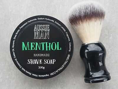 MENTHOL Shave Soap, Extra Lather and Glide, Handmade, ONLY Pay for 1 Post
