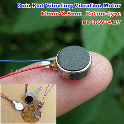 DC3V 3.7V Pager Cell Phone Mobile Coin Flat Vibrating Vibration Micro Motor 1035