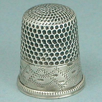 Antique American Sterling Silver Thimble * Circa 1880s