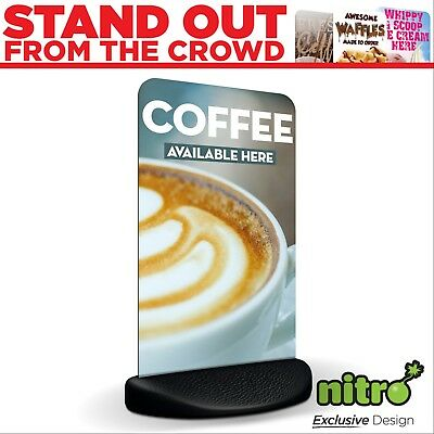 Coffee Available Here Eco Flex 2 Pavement A Board Sign ***PRINTED & DELIVERED***